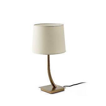Faro REM - Tafellamp Rond Taps toelopend Beige, E27
