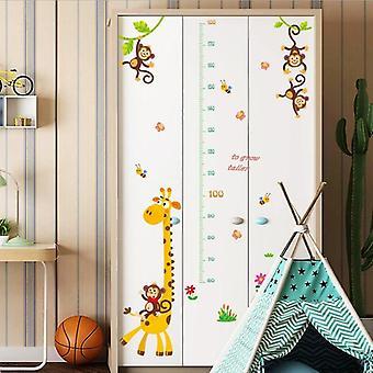 Cartoon Wall Sticker Rooms, Growth Chart, Nursery Decor, Wall Stickers