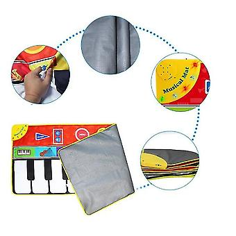 Piano Music Mat ,touch Play Game Dance Blanket Carpet Mat, Early Education Toys