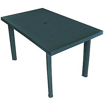 Tavolo da giardino verde 126x76x72 Cm Plastica