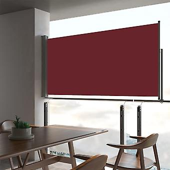 vidaXL Extendable side awning 80×300 cm Red
