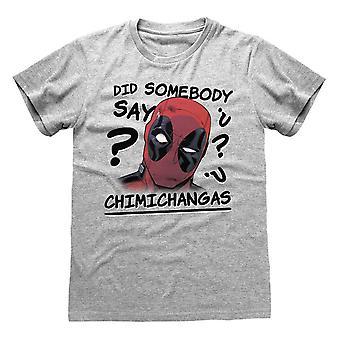 Deadpool Mens Chimichangas T-Shirt