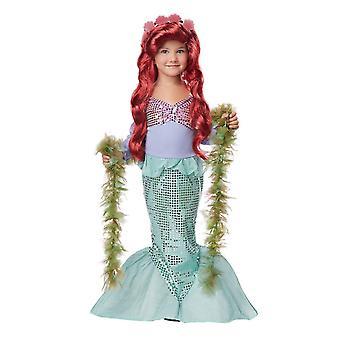 Girls Little Mermaid Ariel Fairy Tale Books & Film Princess Fancy Dress Costume