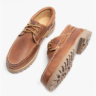 Chatham Sperrin Mens Leather Boat Shoes Tan