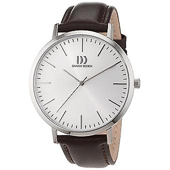 الدنماركية تصميم الرجال والجلود كوارتز ساعة اليد 3314508