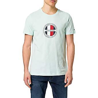 Tommy Hilfiger Circular Logo Tee T-Shirt, Oxygen, XS Men