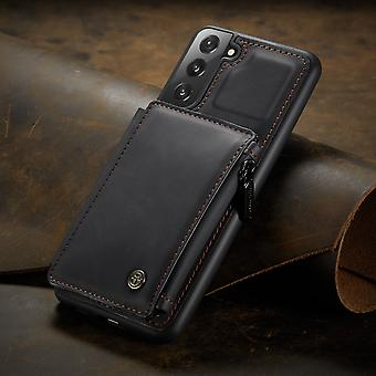 Wallet leather case card slot for samsung s20fe black pc2021