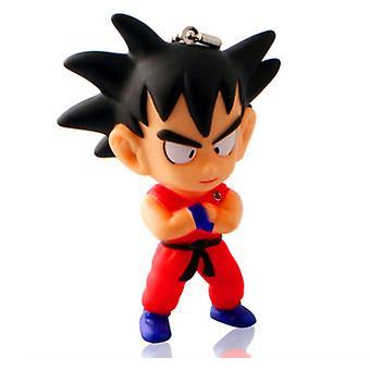2pcs Dragon Ball Son Goku Key Ring Cartoon Key Chain Bag Pendant