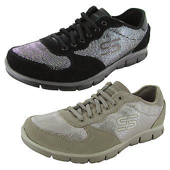 Skechers Damski Gratis-Srebrny Ekran Sneaker Shoe