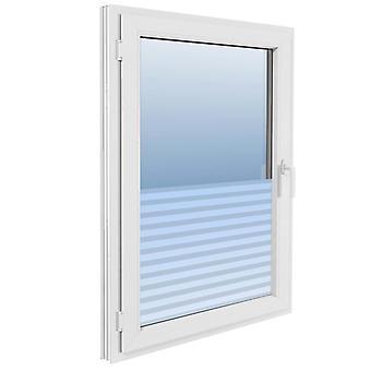 vidaXL Fensterfolie Sichtschutzfolie Streifen Selbstklebend 0,9x10 m