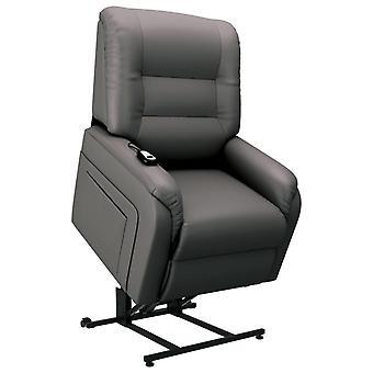 vidaXL Elektrische TV fauteuil met stand-up aid Grijs kunstleer