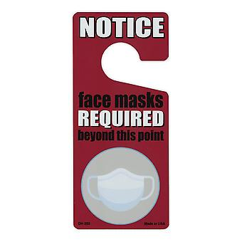 门把手衣架, 金属, 通知, 面罩需要超越这一点