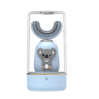 Blue automatic 360¡ã electric toothbrush u-type teeth whitening for kid/children az8559