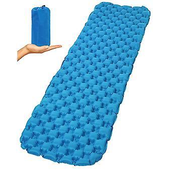 Camping Sleeping Pad, Coussins de couchage ultralégers pour la randonnée, matelas pneumatique de randonnée (bleu)