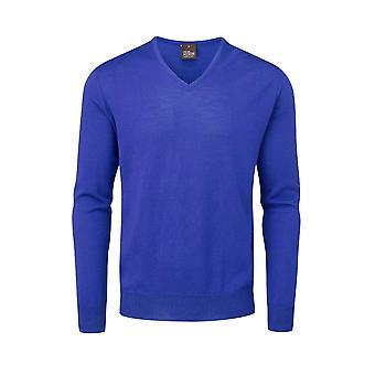 Oscar Jacobson Mens Merino V Neck Sweater Jumper Pullover Top