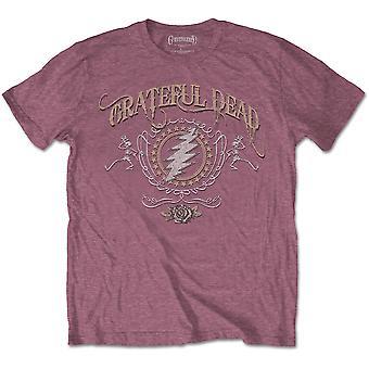 Grateful Dead - Bolt Men's Small T-Shirt - Heather Cardinal