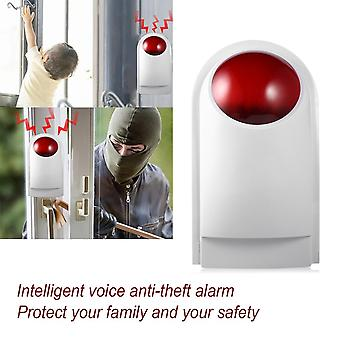 8pcs/set Gsm Wireless Smart Voice Anti-theft Alarm System With Lcd Display