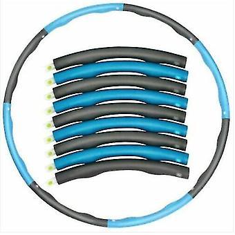 Blau + grau Zusammenklappbar Gewichte Hula Hoop Fitness Gym Übung Workout Abs gepolstert (Blau Grau)