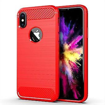 Langlebige weiche Schutzhülle für Apple iPhone XS - Rot