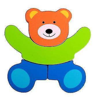 Drevené hádanky pre batoľatá zvieratá farebné puzzle pre deti chlapci dievčatá (GROUP5)