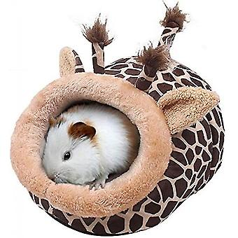 Chinchilla Hedgehog Guinea Bed Accessories Cage Toys Small Pet House(Giraffe)