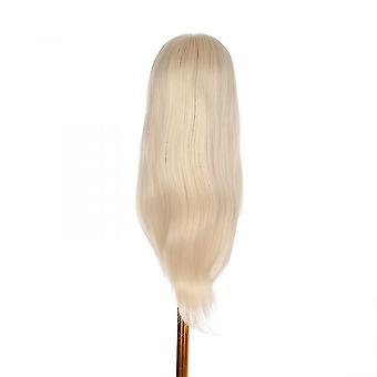 Skyltdocka huvud med klämhållare för flätning hår styling övning manikin huvud för