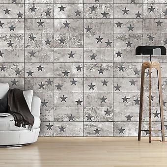 Papel de parede - Estrelas de concreto