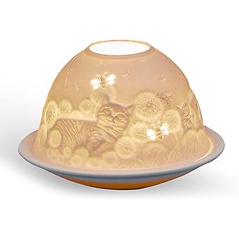 Light Glow Dome Tealight Holder, Cats and Bees