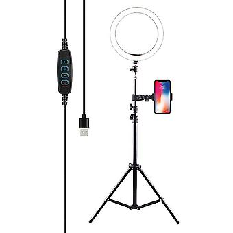 1.6M Selfie Flash LED Ring Light with Tripod Phone Camera Stand Phone Holder