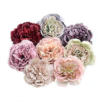 50/100Pcs 8cm large peony artificial silk flower head for wedding party decoration diy scrapbooking christmas items fake flowers