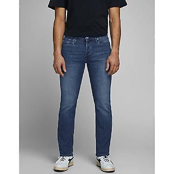 Jack & jones glenn original am 814 slim fit jeans - blauwe denim