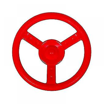 Toy race car track accessories children's steering wheel for use on swings and playground red