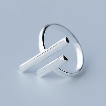Minimalistisch verstellbarer Silberschmuck geometrische Ringe für Frauen (Syjz023)