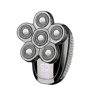 35Eb 6 w 1 golarki elektryczne dla mężczyzn Akumulator elektryczny zestaw do golenia dla łysych mężczyzn (srebrny)
