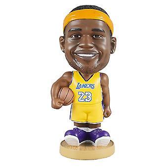 Venalisa Lebron James Action Figure Statue Bobblehead Basketball Doll Decoration