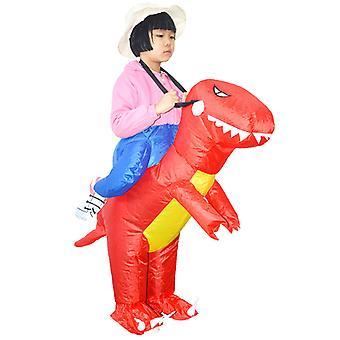 Red Child (80-120cm) Yutube Same Dinosaur Inflatable Costume Halloween Costume