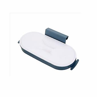 Kök Hushåll Väggmonterad Soppåse Förvaringsställ (blå)