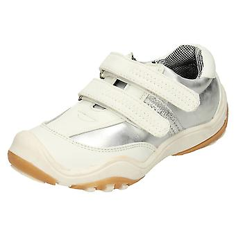 Girls Cutie Double Strap Casual Trainers