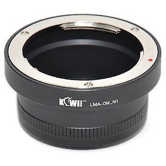 Kiwifotos Προσαρμογέας μονταρίσματος: επιτρέπει στους φακούς του Ολύμπου Ζουίκο OM σε οποιαδήποτε φωτογραφική μηχανή σειράς Nikon 1 (J1, J2, Ε1, v2)