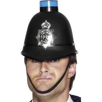 Rendőrségi sisak kék fénnyel együtt akkumulátorok rendőrkalap kalap