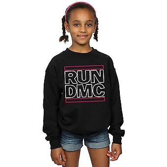Run DMC Girls Neon Logo Sweatshirt