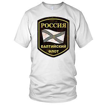 Russian Federation Navy Baltic Fleet Grunge Effect Kids T Shirt