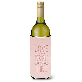 Love is a Friendship Wine Bottle Beverge Insulator Hugger