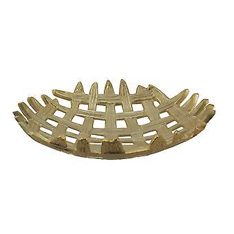 Metallic-Lackierung 16 Zoll Durchmesser Aluminium Gitter weben dekorative Tablett
