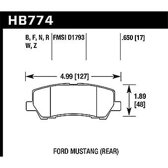 Hawk Performance HB774B.650 Disc Brake Pad HPS 5.0 w/0.650 Thickness Disc Brake Pad