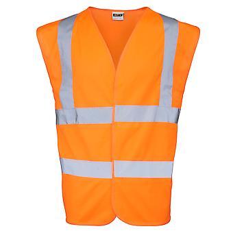 RTY High Visibility Unisex High Vis Sleeveless Waistcoat / Vest