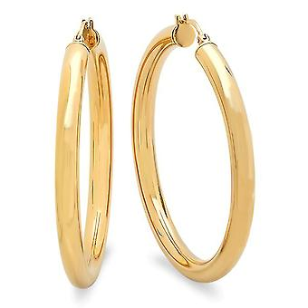 Ladies Yellow 50mm Thick Hoops