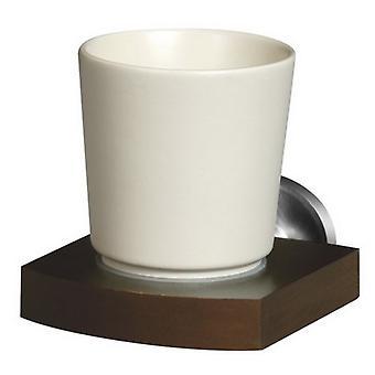 Litego drewna i znalu ściany montowane ceramika pojedynczy Toothmug szczoteczka Cup Grip