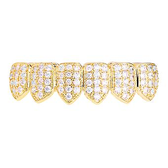 Grillz - gold - one size fits all - CUBIC ZIRCONIA bottom