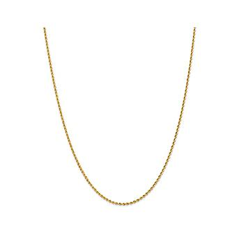 Rope Chain Necklace in 14K Yellow Gold 20 Inches (2.00 mm)